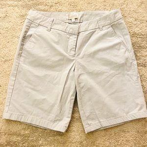 J Crew Gray Chino Bermuda Shorts NWOT Size 4